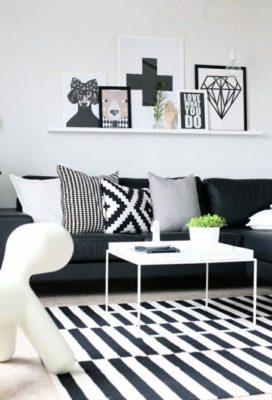 Astuce deco tapis graphique noir et blanc