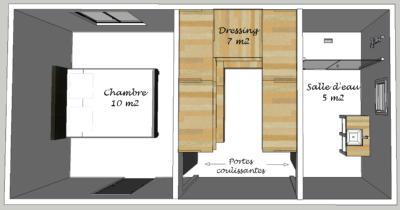 Plan suite parentale architecte interieur bourges