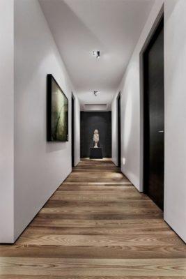 Astuce deco Interieur Couloir portes noires