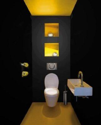 Astuces deco WC noir et jaune