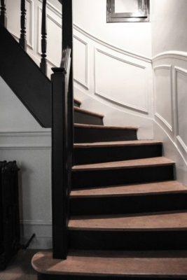 Astuce deco Interieur escalier noir