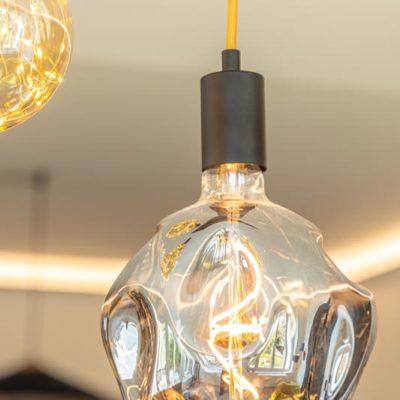 Rénovation Maison Bourges Sejour Ampoule Suspendue