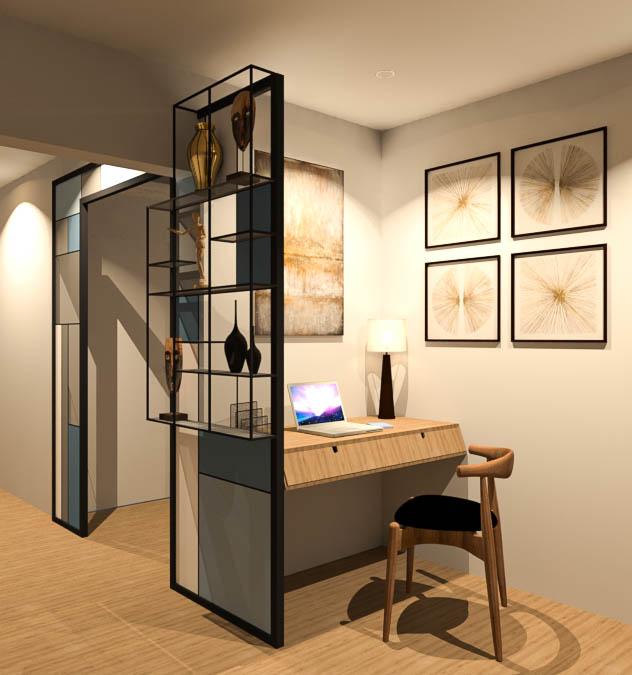 Un coin bureau pratique et esthétique