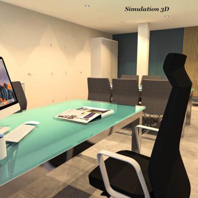 2-Aménagement Interieur Bureau 1 3D