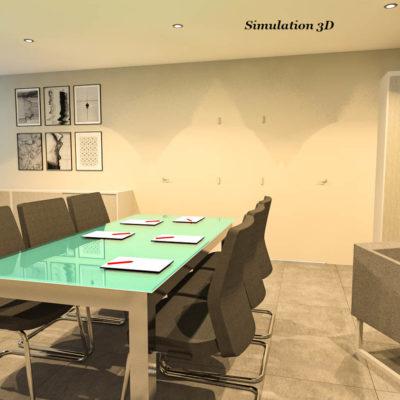 2-Architecte Interieur Bureau Bourge 3D